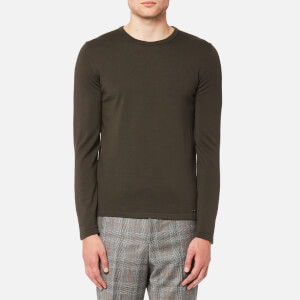 HUGO Men's San Paolo Crew Neck Wool Jumper - Dark Green