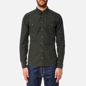 BOSS Orange Men's Erodeo Western Oxford Shirt - Dark Green