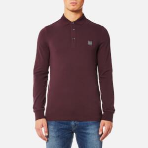 BOSS Orange Men's Paulyn Long Sleeve Polo Shirt - Open Red