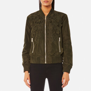 MICHAEL MICHAEL KORS Women's Light Weight Bomber Jacket - Ivy