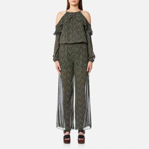 MICHAEL MICHAEL KORS Women's Cole Cold Shoulder Jumpsuit - Ivy