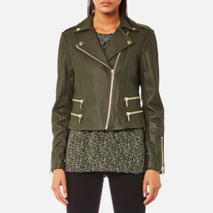 MICHAEL MICHAEL KORS Women's Four Pocket Biker Jacket - Ivy