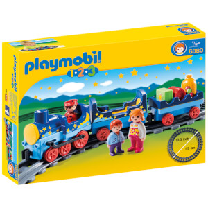 Playmobil 1.2.3 Night Train with Track (6880)