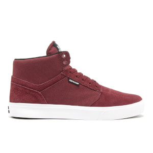 Supra Men's Yorek High Top Trainers - Burgundy/White