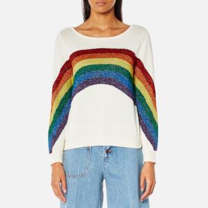 Marc Jacobs Women's Long Sleeve Rainbow Crew Neck Jumper - Ivory Multi