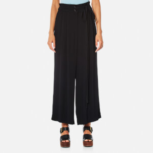 Marc Jacobs Women's Wide Leg Pants with Tie - Black