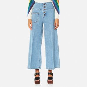 Marc Jacobs Women's Wide Leg Jeans - Retro Indigo