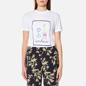 Ganni Women's Moulin Bonheur T-Shirt - Bright White
