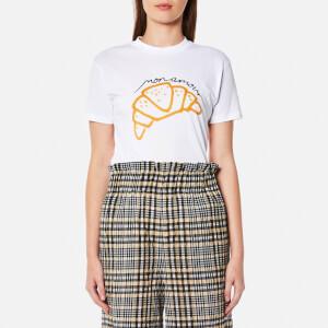 Ganni Women's Moulin Croissant T-Shirt - Bright White