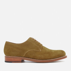 Grenson Men's Curtis Suede Derby Shoes - Snuff