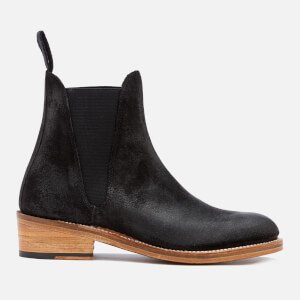 Grenson Women's Nora Burnished Suede Chelsea Boots - Black