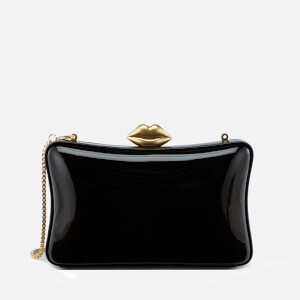Lulu Guinness Women's Shiny Patent Leather Lavinia Bag - Black
