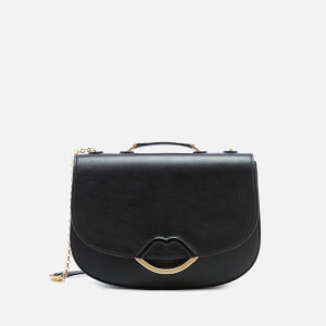 Lulu Guinness Women's Half Covered Lip Isabella Shoulder Bag - Black