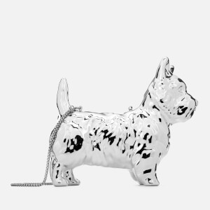 Lulu Guinness Women's Daphne Dog Clutch - Mirrored Silver