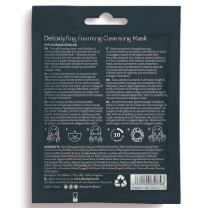 BeautyPro Detoxifying Foaming Cleansing Sheet Mask with Activated Charcoal: Image 2