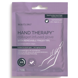 BeautyPro Hand Therapy Collagen Infused Glove with Removable Finger Tips (1 par)