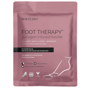 BeautyPro Foot Therapy Collagen Infused Bootie with Removable Toe Tip (1 ζεύγος)