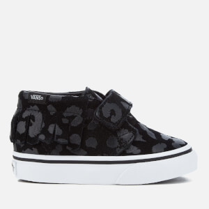 Vans Toddlers' Chukka V Moc Leopard Suede Trainers - Black