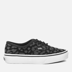 Vans Kids' Authentic Leopard Suede Trainers - Black