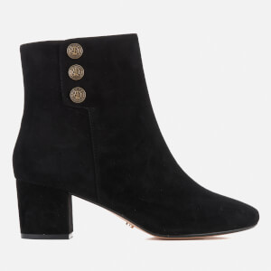Dune Women's Parlour Suede Heeled Boots - Black