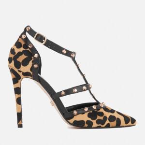Dune Women's Daenerys T-Bar Court Shoes - Leopard
