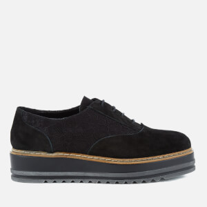 Dune Women's Follow Suede Oxford Shoes - Black