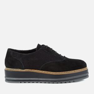 Dune Women's Follow Suede Oxford Shoes - Black
