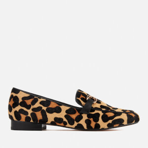 Dune Women's Lolla Leather Loafers - Leopard Pony