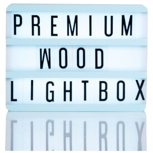 A5 Wood Cinematic Lightbox - Mint Green