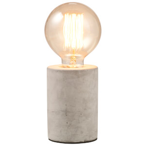 Concrete Tubular Table Lamp - Grey
