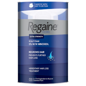 Regaine for Men Extra Strength Hair Regrowth Foam 3 x 60 ml