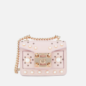 SALAR Women's Gia Pearl Bag - Soft Pink
