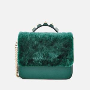 SALAR Women's Lulla Small Teddy Bag - Green Pgre