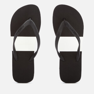 Orlebar Brown Men's Haston Flip Flops - Black/White