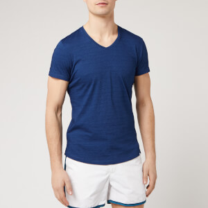 Orlebar Brown Men's V-Neck T-Shirt - Denim Pigment