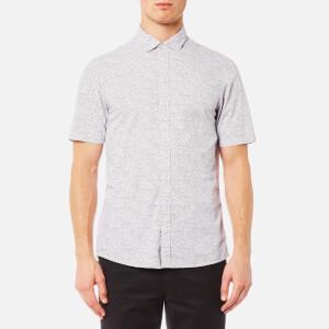 Michael Kors Men's Short Sleeve Slim Benjamin Print Shirt - Royal Purple