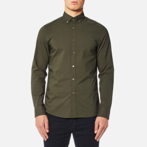 Michael Kors Men's Slim New Button Down Shirt - Fatigue