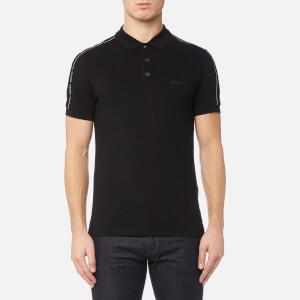 BOSS Green Men's Paule Sleeve Logo Polo Shirt - Black
