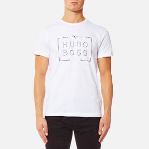 BOSS Green Men's Tee1 Large Logo T-Shirt - White