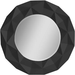 Premier Housewares Geo High Gloss Wall Mirror - Black