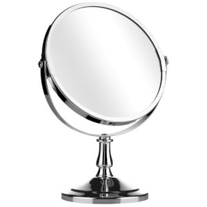 Premier Housewares Swivel Mirror with Magnifying Option - Chrome