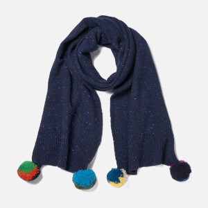 Paul Smith Women's Pom Pom Scarf - Blue