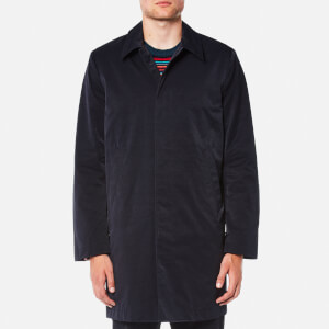 PS by Paul Smith Men's Buttoned Mac - Blue