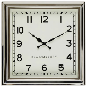 Fifty Five South Bloomsbury Wall Clock - Stainless Steel/Glass