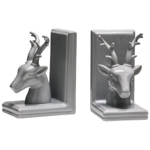 Fifty Five South Stag Bookends - Grey Dolomite (Set of 2)