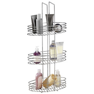 Fifty Five South 3 Tier Bathroom Organiser - Chrome Finish