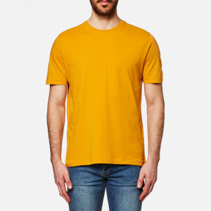 Folk Men's Contrast Sleeve T-Shirt - Sunshine Yellow