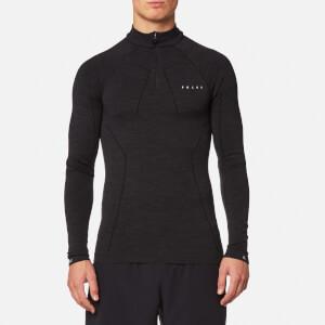 FALKE Ergonomic Sport System Men's Zip-Shirt Base Layer - Black