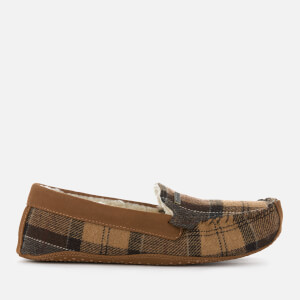 Barbour Women's Betsy Tartan Moccasin Slippers - Camel