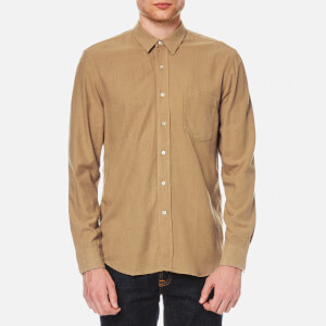 Our Legacy Men's Classic Silk Shirt - Tan Silk Noil